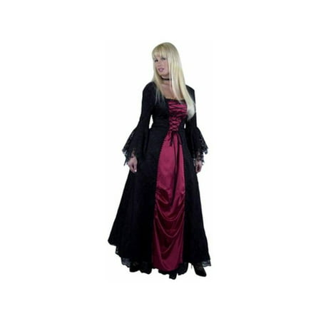 Adult Gothic Vampira Costume - Make De Vampira Para Halloween