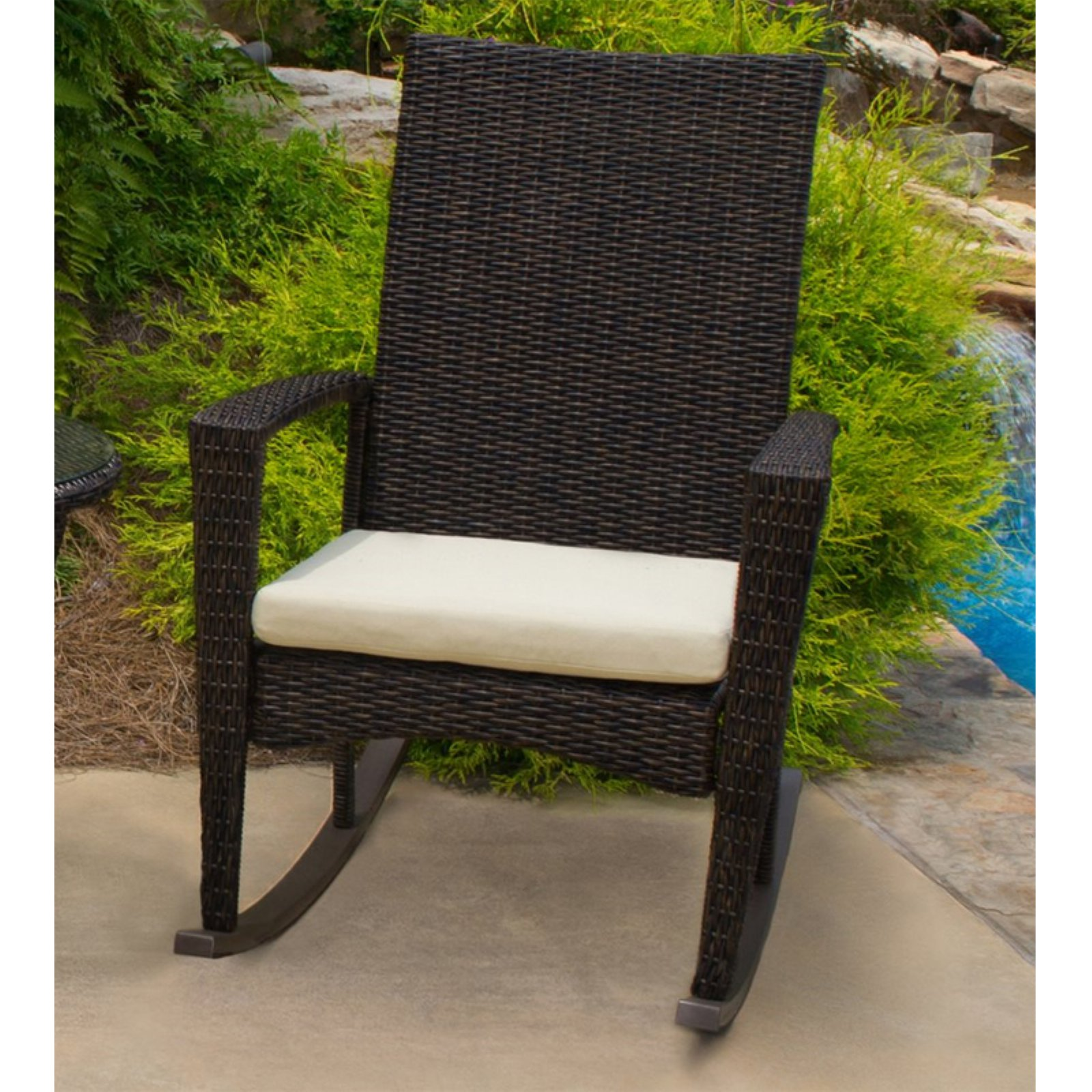 Tortuga Outdoor Bayview Wicker Rocking Chair with Cushion