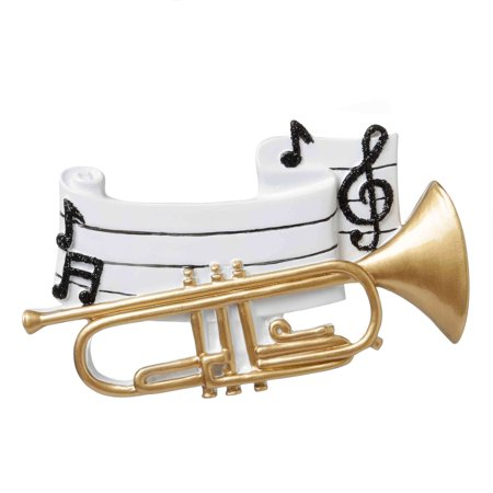 TRUMPET Personalized Christmas Tree Ornament DO-IT-YOURSELF ()