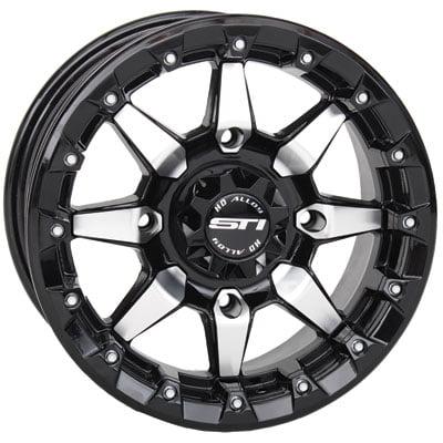 4/156 STI HD5 Beadlock Wheel 14x7 5.0 + 2.0 Machined/Black for Polaris RANGER 800 EFI Mid Size