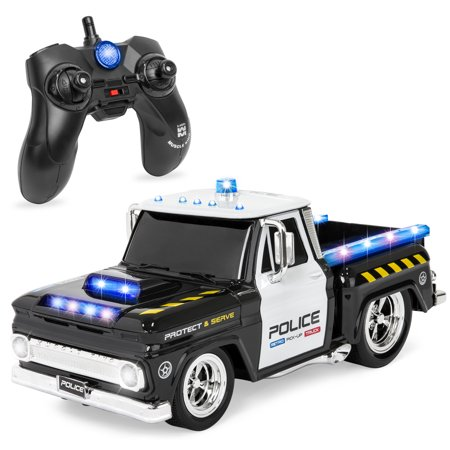 Best Choice Products 1/16 Scale RC Police Car with Lights/Sounds and 7.4mph Top