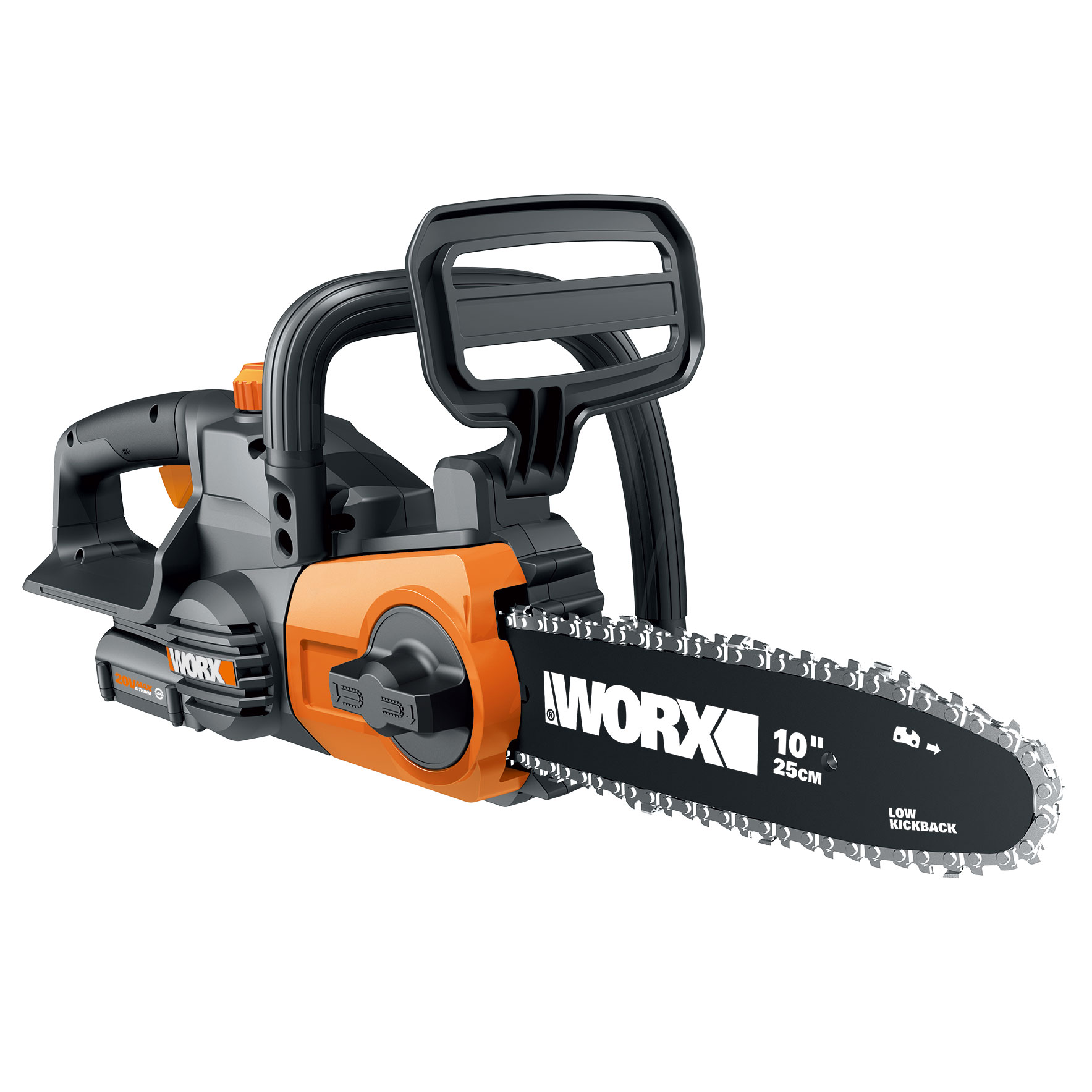 Worx Wg322 10 In Cordless 20v Chainsaw With Auto Tension And Auto Oiling Walmart Com Walmart Com