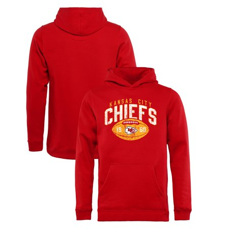 Kansas City Chiefs NFL Pro Line by Fanatics Branded Youth Throwback Collection Coin Toss Pullover Hoodie - Red Fleece Kansas City Chiefs Sweatshirt