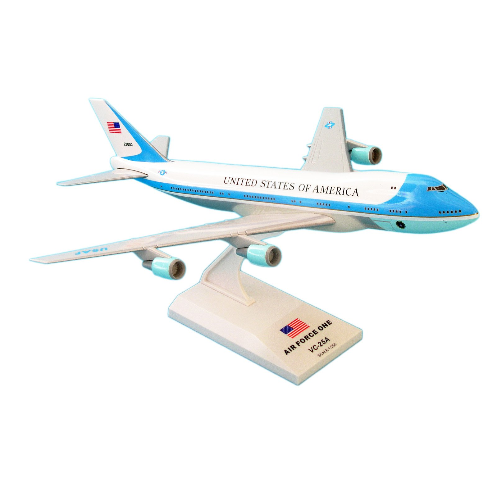Daron Sky Marks SKR041 Air Force One Boeing 747-200 VC25, 1 250 scale Desktop Model with... by Overstock
