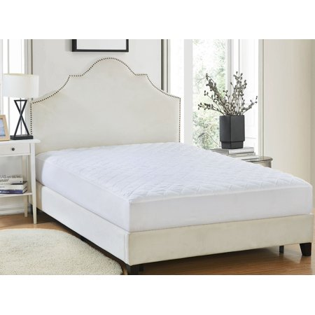 Quilted Mattress Pad - 90 GSM Microfiber Cover - Queen ()