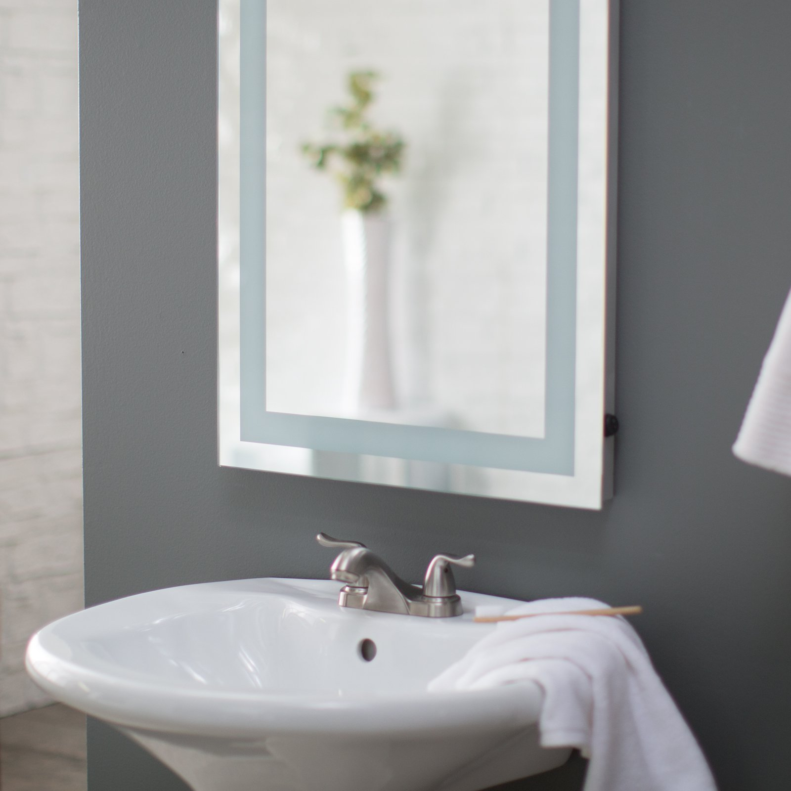 Afina Illume LED Backlit Rectangular Bathroom Mirror - Walmart.com