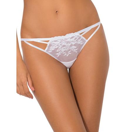 Lace Nylon Bikini - Women's Lace Cut-Out Bikini Panty, 2 Pack - Style ST128