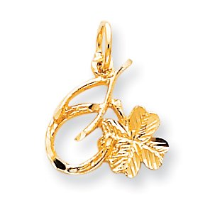 Horseshoe Italian Charm - 10k Yellow Gold Solid Horseshoe Wishbone Shamrock Pendant Charm Necklace Good Luck Italian Horn For Women