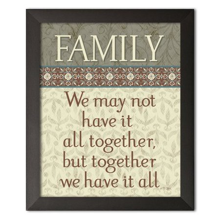 (Winston Porter 'Family, We May Not Have It All Together, But Together We Have It All Housewarming' Textual Art)