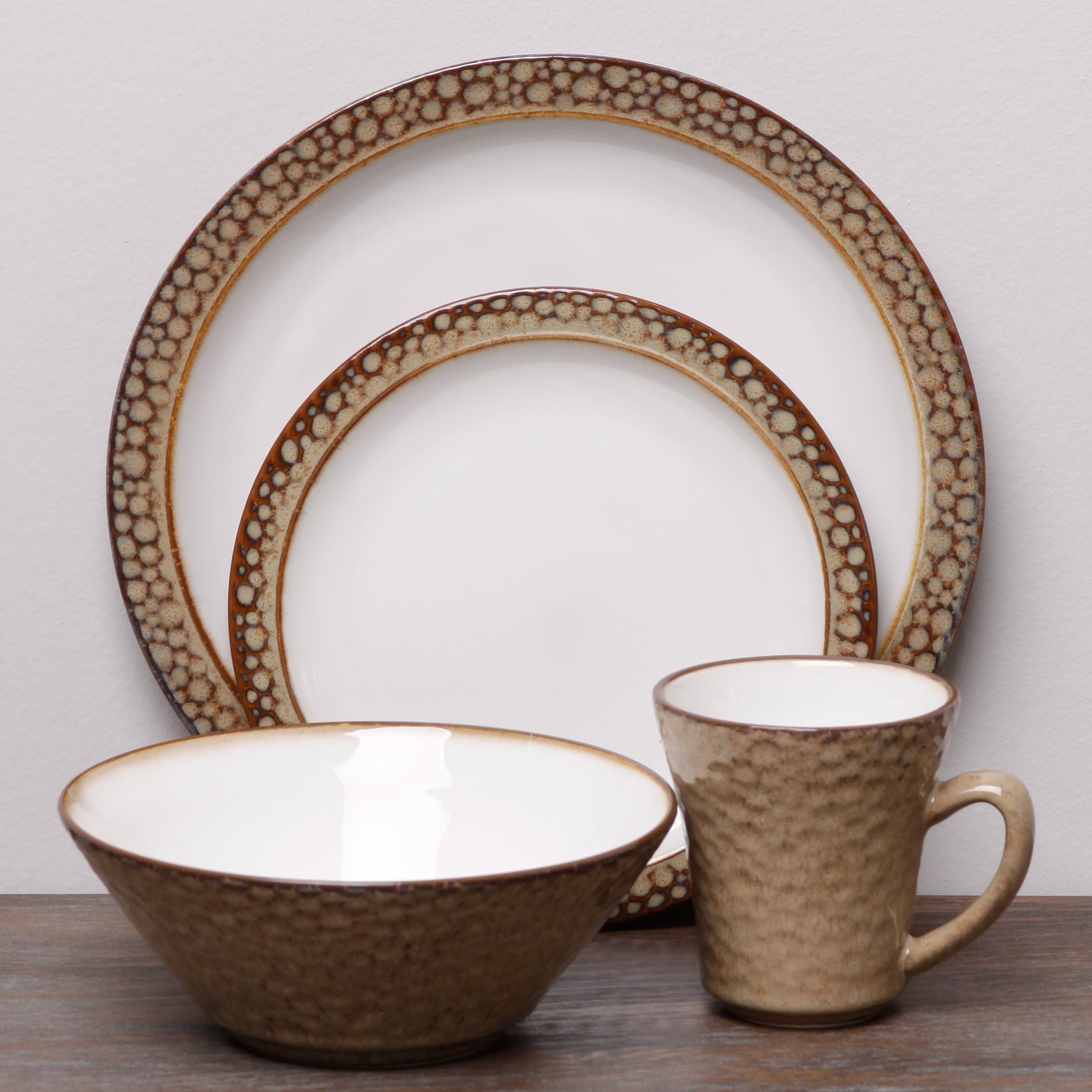 Sango Facets Gold/ White 16-piece Dinnerware Set : sango soho dinnerware - pezcame.com