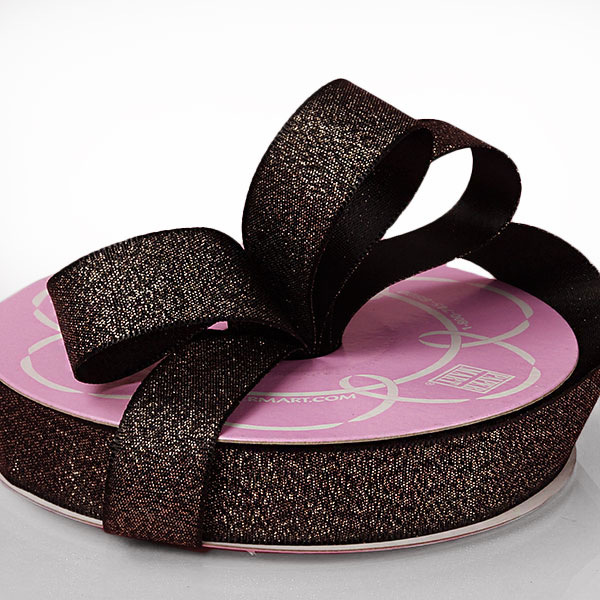 "5/8"" X 25 Yards Black Shining Sand Satin Ribbon  by Paper Mart"