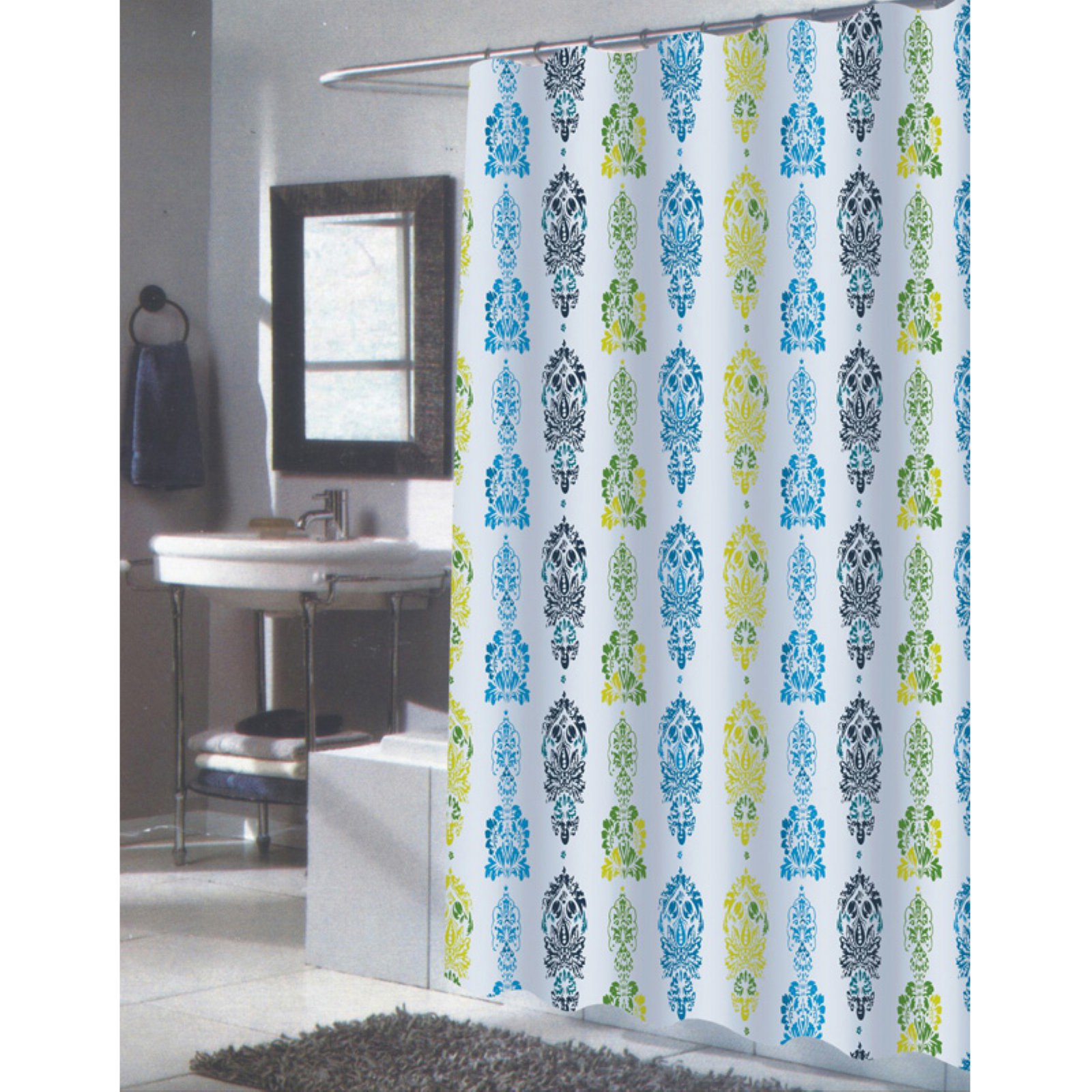 "Extra Long ""Olivia"" Fabric Shower Curtain"