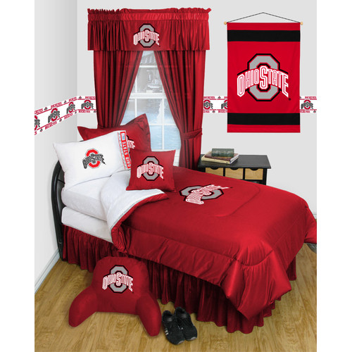 Sports Coverage Inc. NCAA Ohio State Bed Skirt