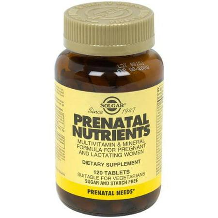 Nutriments prénatale Solgar 120 Tabs