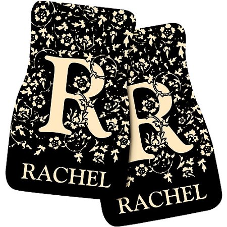 - Personalized Initial Car Mats, Black