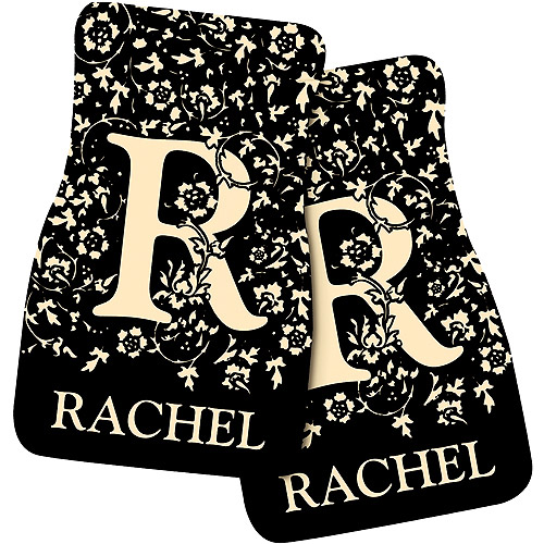 Personalized Initial Car Mats, Black
