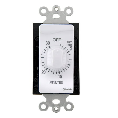 Westek TMSW15MW Indoor Wire-In Spring Wound Countdown Timer, White, 15 Minute](New Years Countdown Timer)