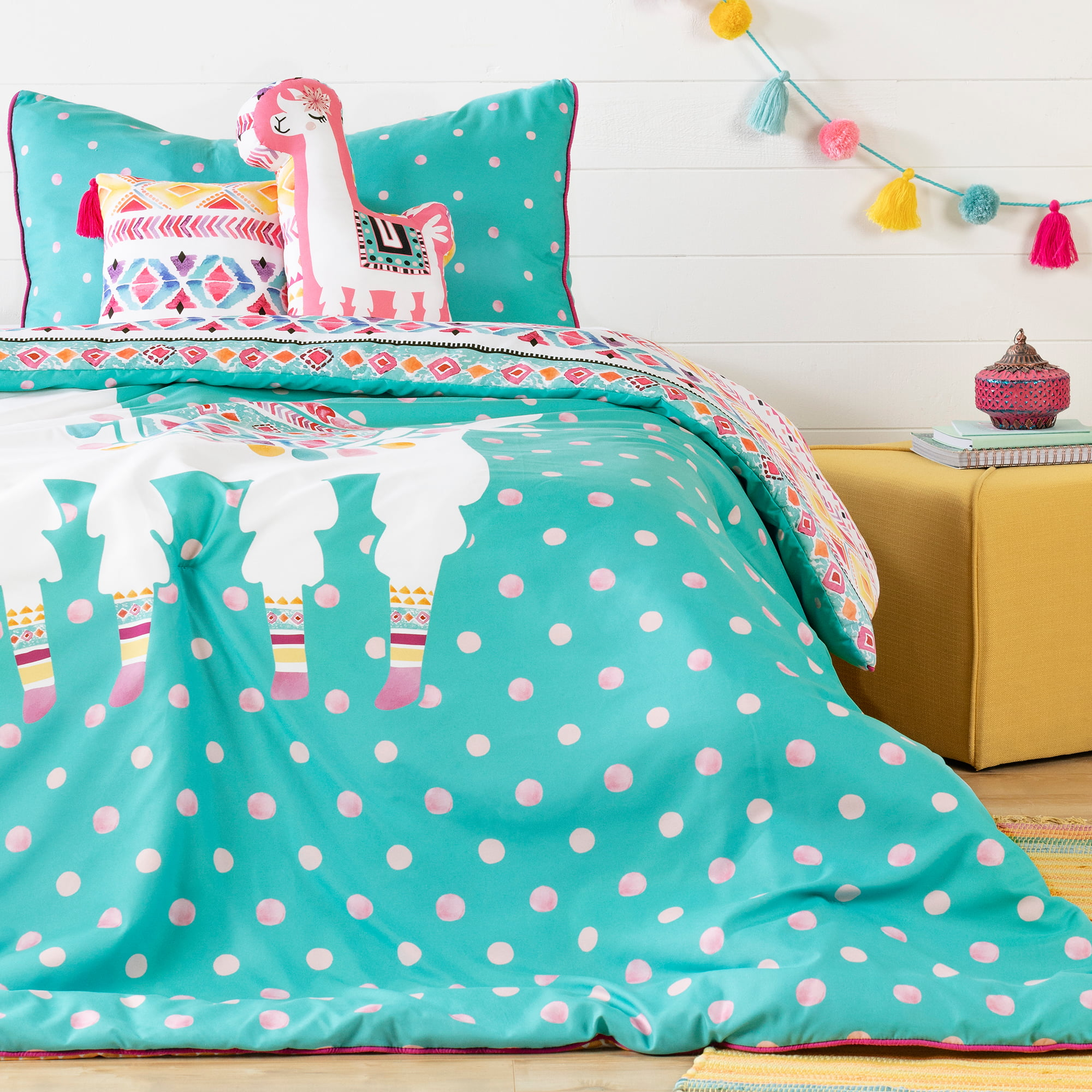 South Shore Dreamit Turquoise and Pink Kids Bedding Set ...
