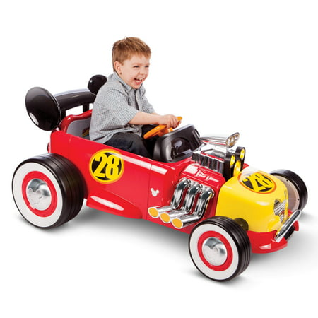 Disney Mickey Roadster Racer 6-Volt Battery-Powered Ride On by