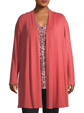 Women's Plus Size 2fer with Rouched Neck Tank
