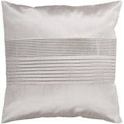 "22"" Silver White Tuxedo Pleats Decorative Throw Pillow"
