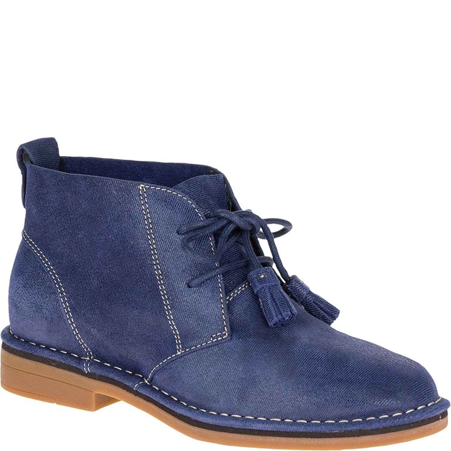 Hush Puppies Women's Cyra Catelyn Navy Shimmer Suede 8 M US