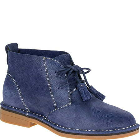 Hush Puppies Women's Cyra Catelyn Navy Shimmer Suede 8 M - Hush Puppies Shoes For Women