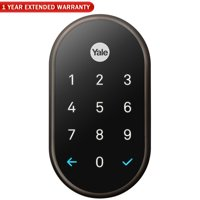 Nest (RB-YRD540-WV-0BP) x Yale Lock with Nest Connect, Oil Rubbed Bronze + 1 Year Extended Warranty