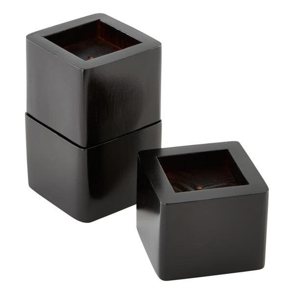 Raise Its Desk Risers Set Of 8 Black Walmart Com