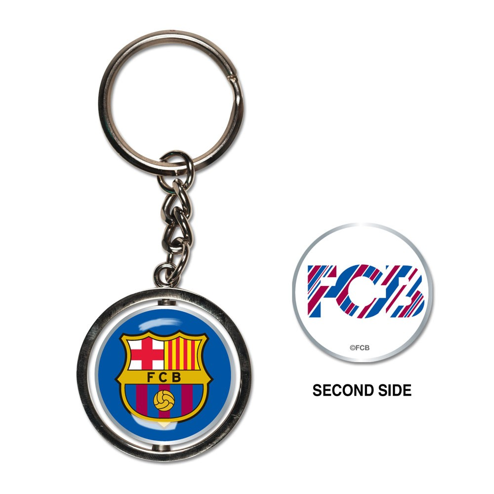 FC Barcelona Official EUROPE  Metal Spinner Key Chain Keychain by WinCraft
