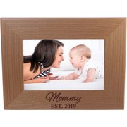 Mommy EST. 2019 4-inch x 6-Inch Wood Picture Frame