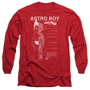 Astro Boy Schematics Mens Long Sleeve Shirt