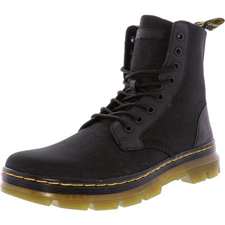 Dr. Martens Combs Nylon Black High-Top Boot - 10M / 9M