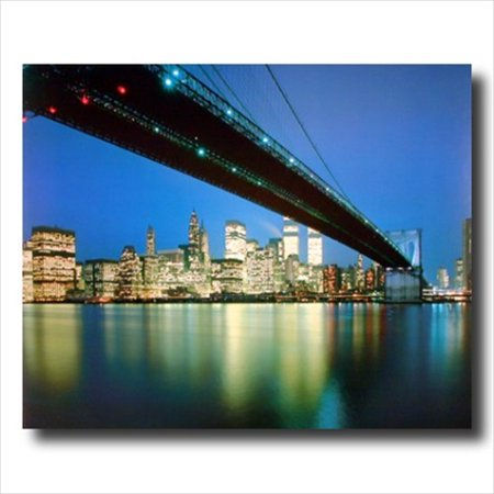 New York City Skyline At Night Wall Picture Art Print