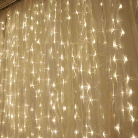 BalsaCircle 20 ft x 10 ft LED Lights Organza Backdrop Curtain - Wedding Party Photobooth Ceremony Event Photo Decorations - Arrow Of Light Ceremony Ideas