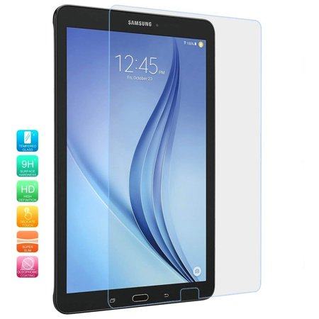Galaxy Tab E 9.6 Screen Protector by KIQ [2 Pack] Tempered Glass 9H Hardness 0.30mm Self-Adhere Easy-to-install Bubble-free For Samsung Galaxy Tab E 9.6 T560 T561 T560NU