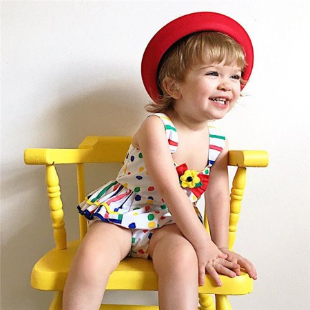 Newborn Baby Girls Polka Dot Romper Bodysuit Jumpsuit Outfit Sunsuit Clothes Set