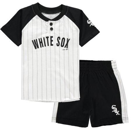 Chicago White Sox Toddler Good Hit Henley T-Shirt & Shorts Set - (Good Land Henley Shirt)