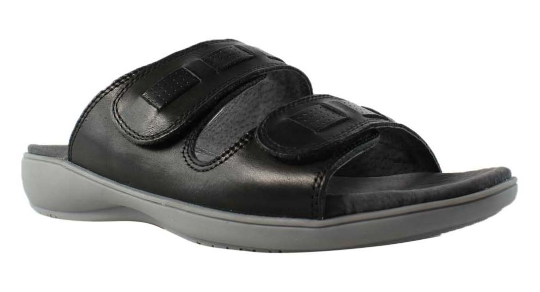 Trotters Womens Black Slides Sandals Size 6 New by Trotters