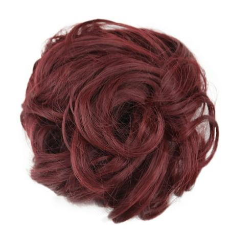 Curly Messy Bun Hair Piece Hair Scrunchie Fake Natural Look