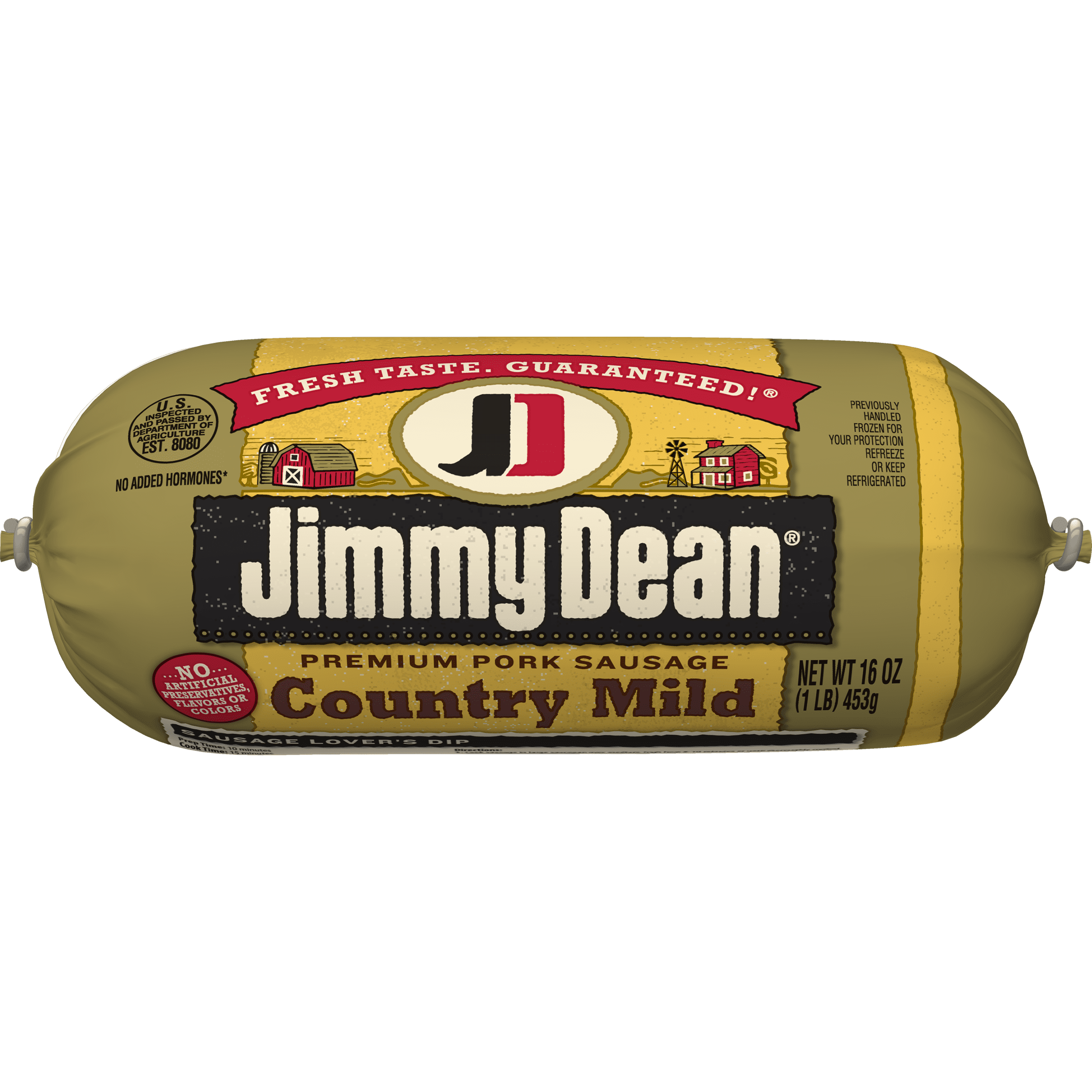 Jimmy Dean Premium Pork Country Mild Sausage Roll, 16 Oz ...