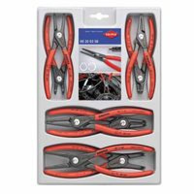 SB Precision Circlip Snap Ring Pliers Set, 8 Piece, Straight, Red