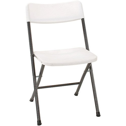 Cosco Resin (4 Pack) Folding Chair With Molded Seat, White With Gray Metal    Walmart.com