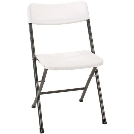 Miraculous Cosco Resin 4 Pack Folding Chair With Molded Seat White With Gray Metal Theyellowbook Wood Chair Design Ideas Theyellowbookinfo