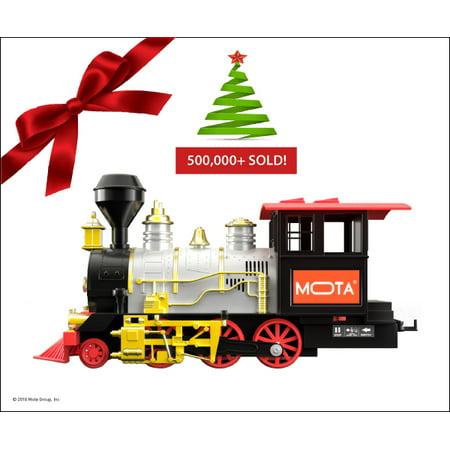 MOTA Holiday Christmas Train Set with Real Smoke – Signature Lights and  Sounds – Full Set - MOTA Holiday Christmas Train Set With Real Smoke €� Signature Lights
