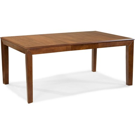 Imagio home wellesley dining table caramel for Dining room tables 38 inches wide