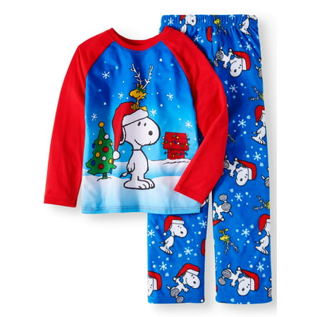 Snoopy Christmas Images.Snoopy Christmas 2 Piece Pajama Sleep Set Little Boy Big Boy