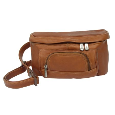 Piel Leather Carry-All Waist Bag - Saddle