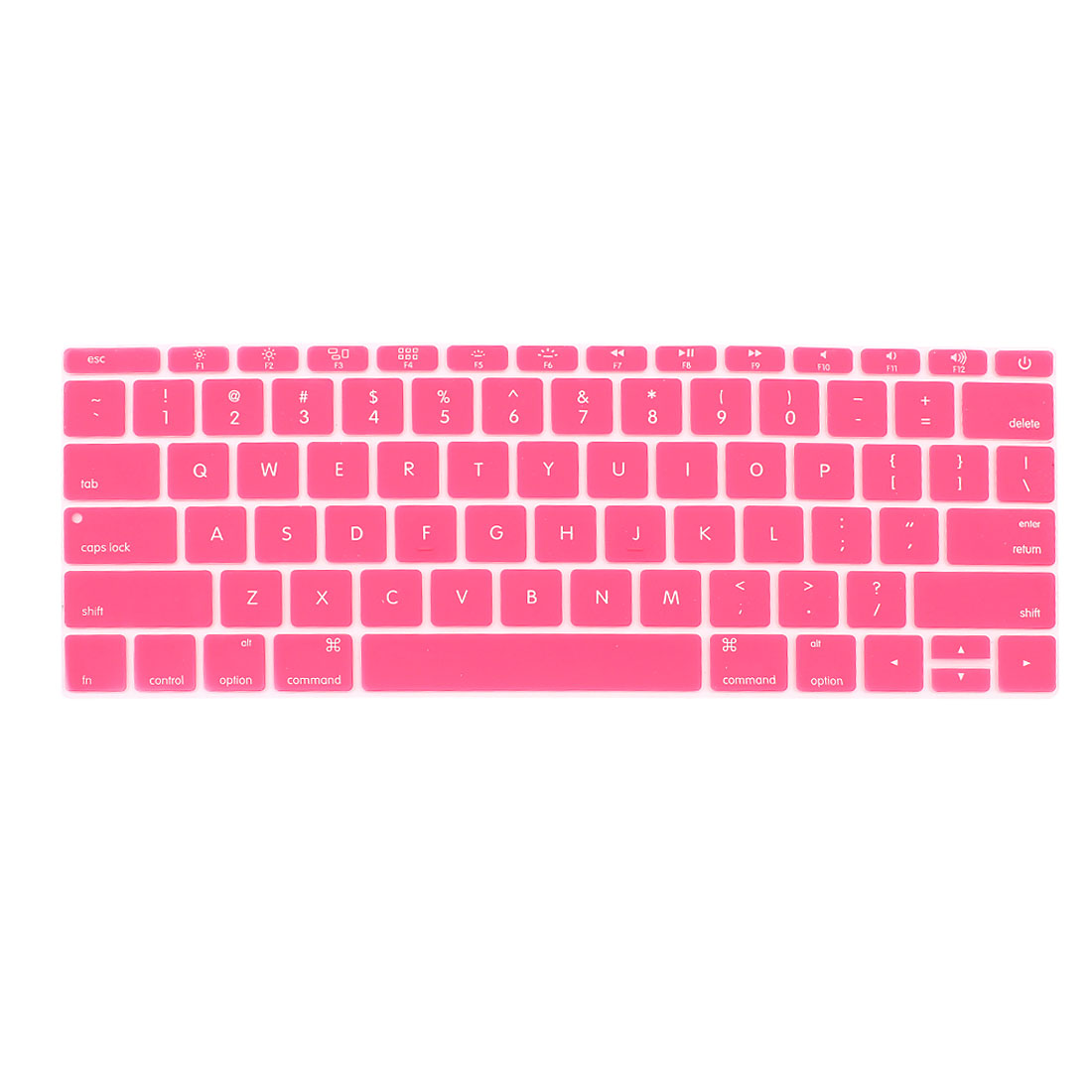 Laptop Rubber Protective Shell Keyboard Skin Cover Pink for MacBook 12""