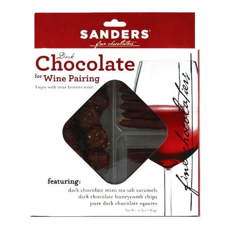 Sanders Dark Chocolate for Red Wine Pairing 12 oz each (1 Item Per Order, not per case) Silver Oak Chocolate Wine